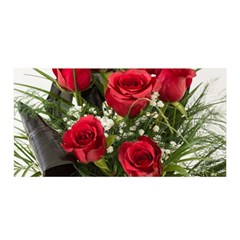 Red Roses Roses Red Flower Love Satin Wrap