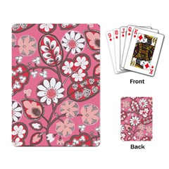 Flower Floral Red Blush Pink Playing Card