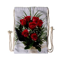 Red Roses Roses Red Flower Love Drawstring Bag (Small)