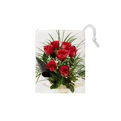 Red Roses Roses Red Flower Love Drawstring Pouches (xs)