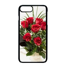 Red Roses Roses Red Flower Love Apple Iphone 7 Plus Seamless Case (black)