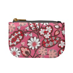 Flower Floral Red Blush Pink Mini Coin Purses