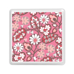 Flower Floral Red Blush Pink Memory Card Reader (Square)