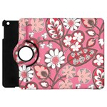 Flower Floral Red Blush Pink Apple iPad Mini Flip 360 Case Front