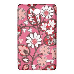 Flower Floral Red Blush Pink Samsung Galaxy Tab 4 (8 ) Hardshell Case