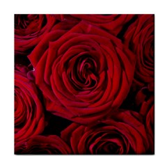 Roses Flowers Red Forest Bloom Tile Coasters
