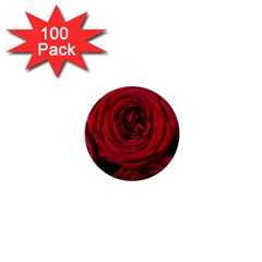 Roses Flowers Red Forest Bloom 1  Mini Magnets (100 Pack)