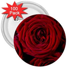 Roses Flowers Red Forest Bloom 3  Buttons (100 Pack)