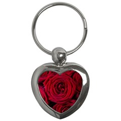 Roses Flowers Red Forest Bloom Key Chains (heart)
