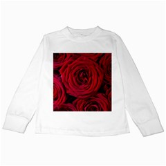Roses Flowers Red Forest Bloom Kids Long Sleeve T Shirts