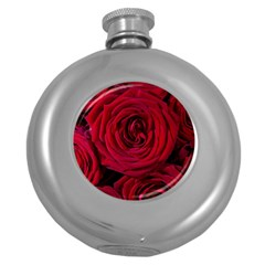 Roses Flowers Red Forest Bloom Round Hip Flask (5 oz)