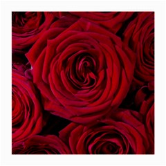 Roses Flowers Red Forest Bloom Medium Glasses Cloth (2-Side)