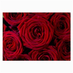 Roses Flowers Red Forest Bloom Large Glasses Cloth (2 Side)