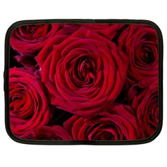 Roses Flowers Red Forest Bloom Netbook Case (xl)
