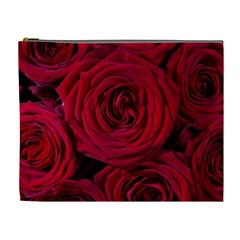 Roses Flowers Red Forest Bloom Cosmetic Bag (xl)