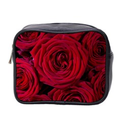 Roses Flowers Red Forest Bloom Mini Toiletries Bag 2 Side