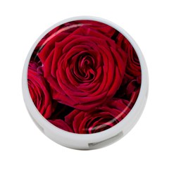 Roses Flowers Red Forest Bloom 4 Port Usb Hub (one Side)