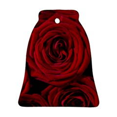 Roses Flowers Red Forest Bloom Bell Ornament (two Sides)