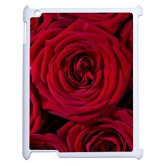 Roses Flowers Red Forest Bloom Apple Ipad 2 Case (white)