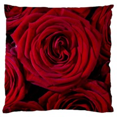 Roses Flowers Red Forest Bloom Large Cushion Case (Two Sides)