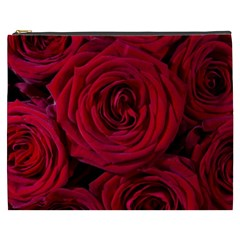 Roses Flowers Red Forest Bloom Cosmetic Bag (xxxl)