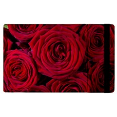 Roses Flowers Red Forest Bloom Apple Ipad 3/4 Flip Case