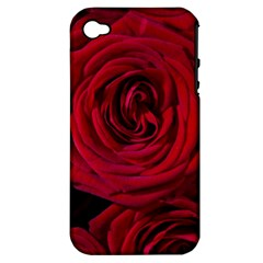 Roses Flowers Red Forest Bloom Apple Iphone 4/4s Hardshell Case (pc+silicone)