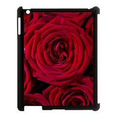 Roses Flowers Red Forest Bloom Apple Ipad 3/4 Case (black)