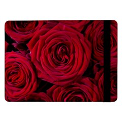 Roses Flowers Red Forest Bloom Samsung Galaxy Tab Pro 12 2  Flip Case