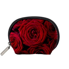 Roses Flowers Red Forest Bloom Accessory Pouches (small)