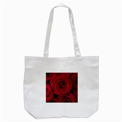 Roses Flowers Red Forest Bloom Tote Bag (white)