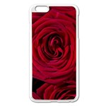Roses Flowers Red Forest Bloom Apple iPhone 6 Plus/6S Plus Enamel White Case Front