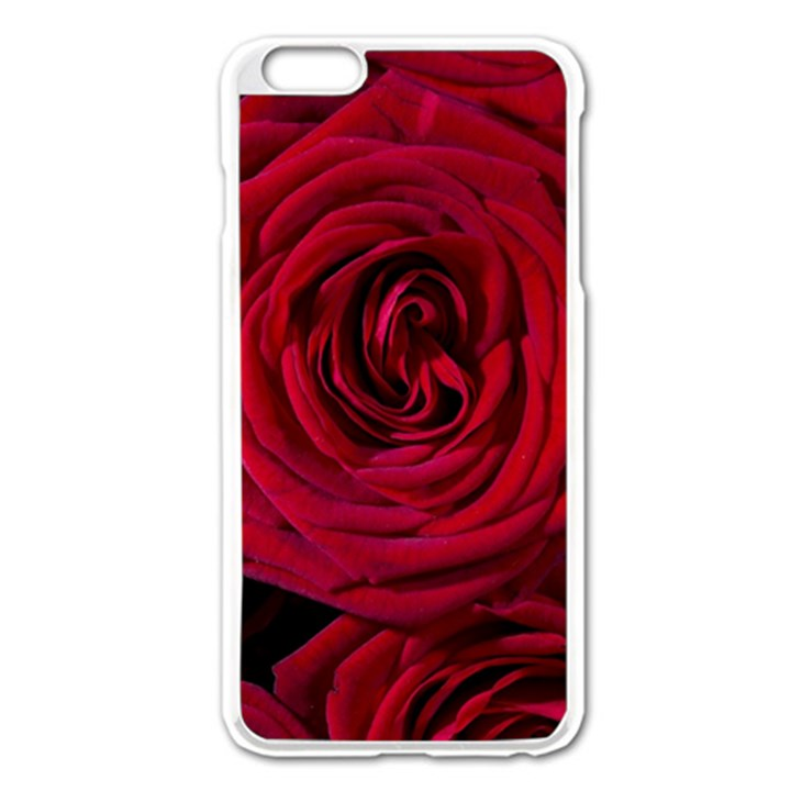 Roses Flowers Red Forest Bloom Apple iPhone 6 Plus/6S Plus Enamel White Case