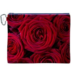 Roses Flowers Red Forest Bloom Canvas Cosmetic Bag (xxxl)