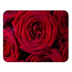 Roses Flowers Red Forest Bloom Double Sided Flano Blanket (large)