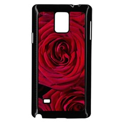 Roses Flowers Red Forest Bloom Samsung Galaxy Note 4 Case (Black)