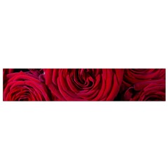 Roses Flowers Red Forest Bloom Flano Scarf (Small)