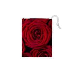 Roses Flowers Red Forest Bloom Drawstring Pouches (xs)