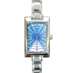 Cobweb Network Points Lines Rectangle Italian Charm Watch