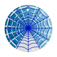 Cobweb Network Points Lines Ornament (round)