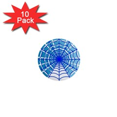 Cobweb Network Points Lines 1  Mini Buttons (10 Pack)