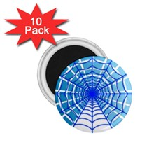 Cobweb Network Points Lines 1 75  Magnets (10 Pack)