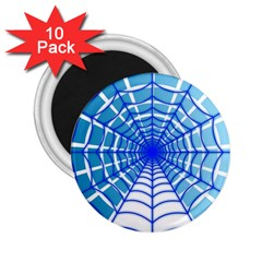 Cobweb Network Points Lines 2 25  Magnets (10 Pack)