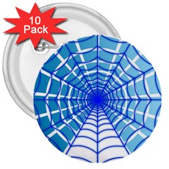 Cobweb Network Points Lines 3  Buttons (10 Pack)