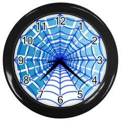 Cobweb Network Points Lines Wall Clocks (black)