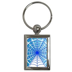 Cobweb Network Points Lines Key Chains (rectangle)