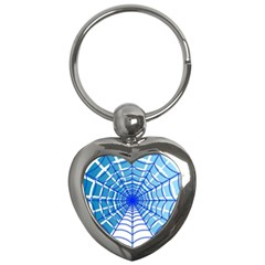 Cobweb Network Points Lines Key Chains (heart)
