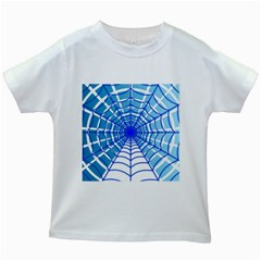 Cobweb Network Points Lines Kids White T-Shirts
