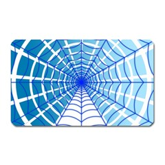 Cobweb Network Points Lines Magnet (rectangular)