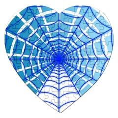 Cobweb Network Points Lines Jigsaw Puzzle (heart)